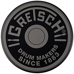 "Gretsch Drums 12"" Grey Round Badge Logo Practise Pad « Pad d'entraînement"