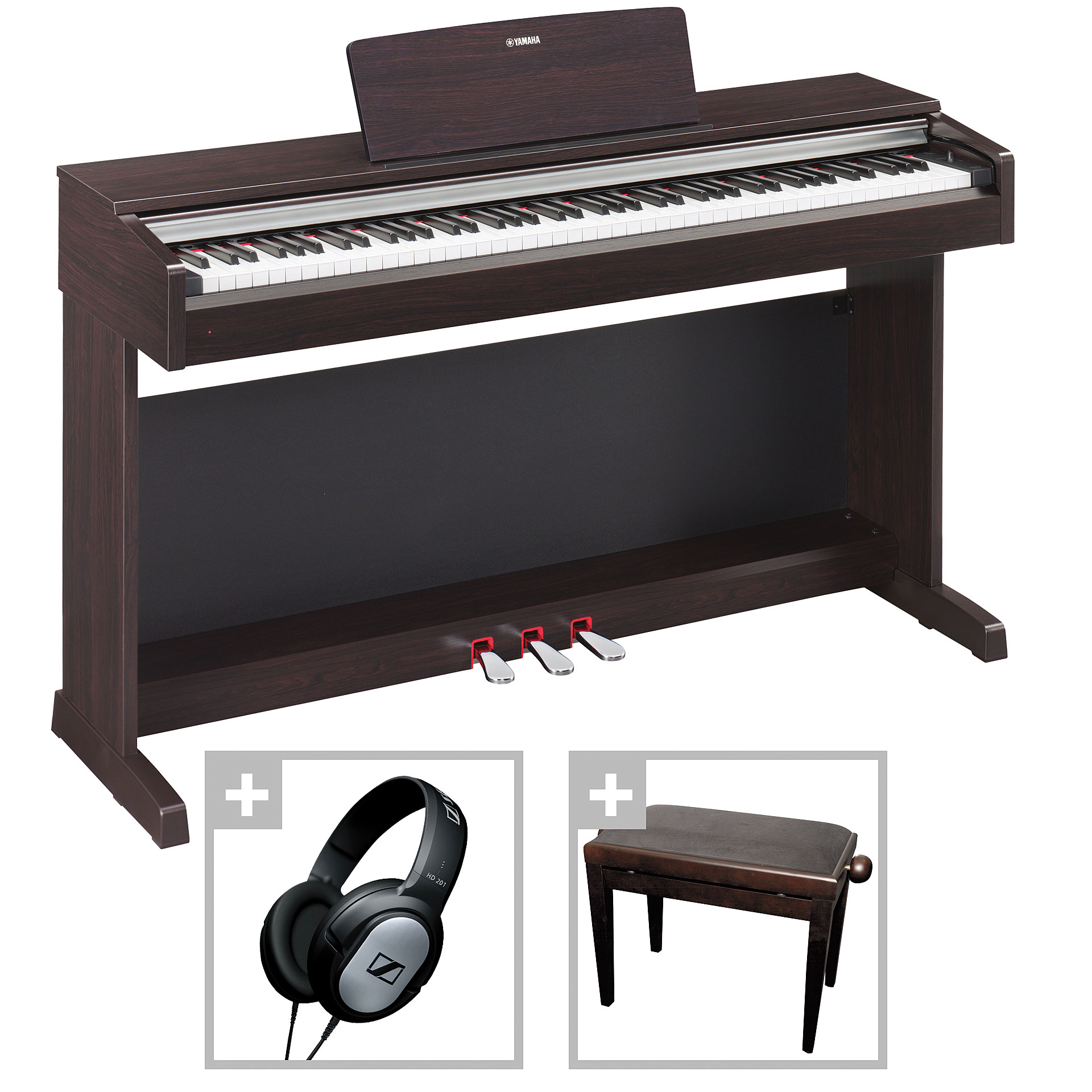 yamaha arius ydp 142 r bundle digital piano. Black Bedroom Furniture Sets. Home Design Ideas