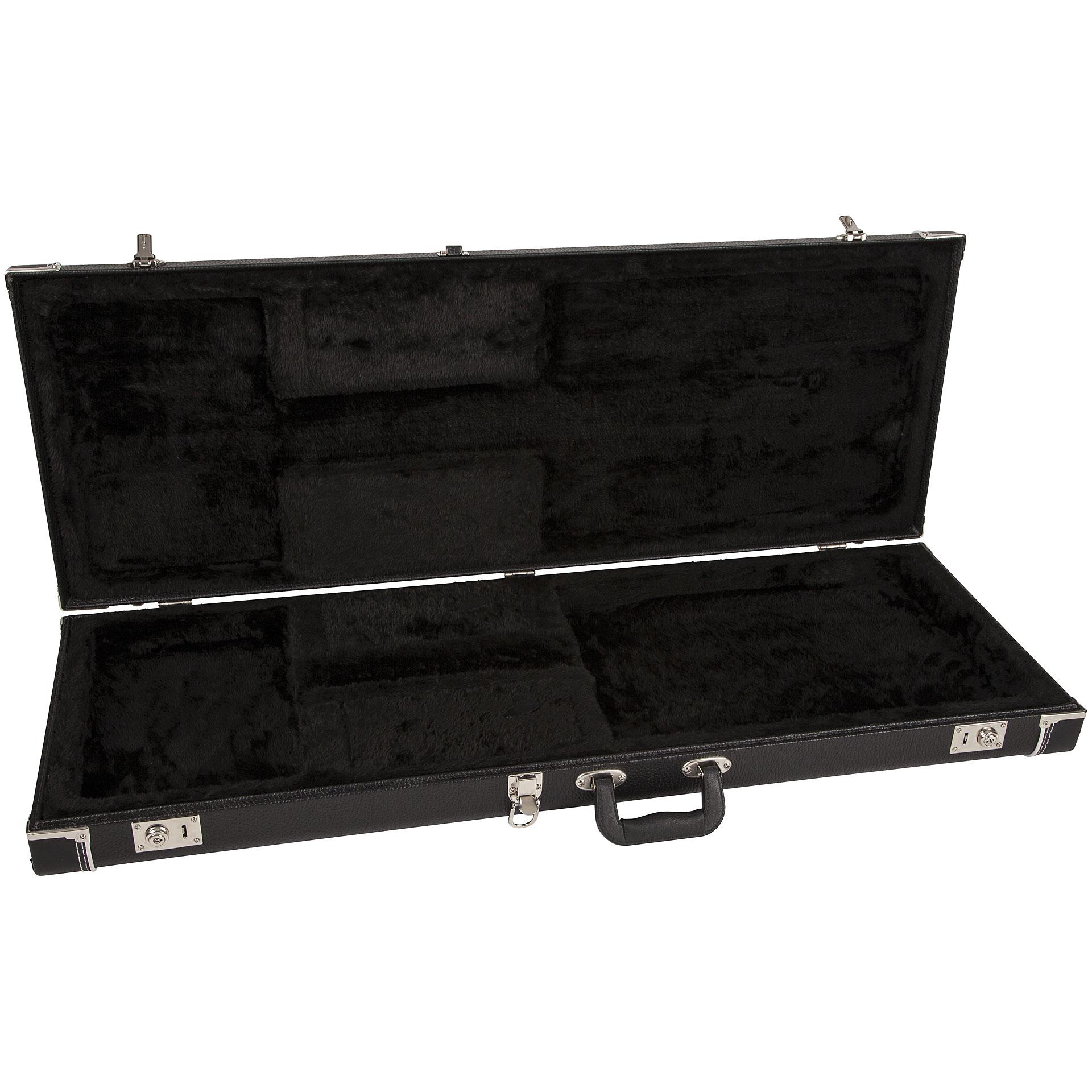 fender pro serie strat tele black electric guitar case. Black Bedroom Furniture Sets. Home Design Ideas