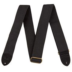 Fender 2'' Cotton / Leather BLK « Guitar Strap
