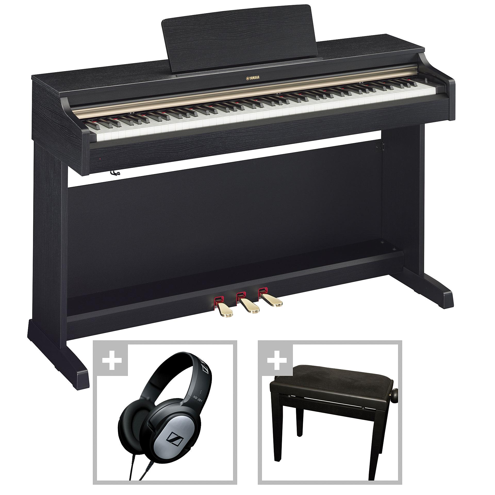 yamaha arius ydp 162 b bundle digital piano. Black Bedroom Furniture Sets. Home Design Ideas