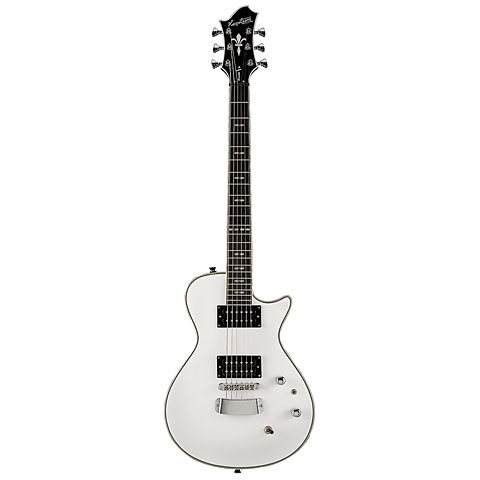 Hagstrom Ultra Swede White Tuxedo « Guitare électrique