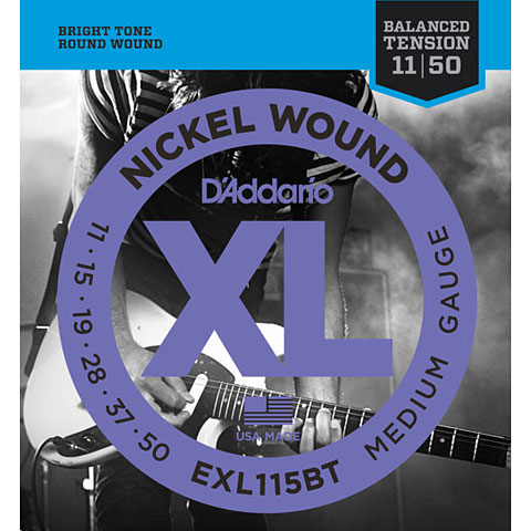 Corde guitare électrique D'Addario EXL115BT Nickel Wound .011-050