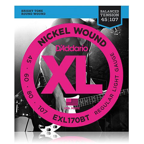 Saiten E-Bass D'Addario EXL170BT Nickel Wound .045-107