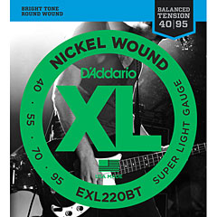 D'Addario EXL220BT Nickel Wound .040-095 « Corde basse électrique