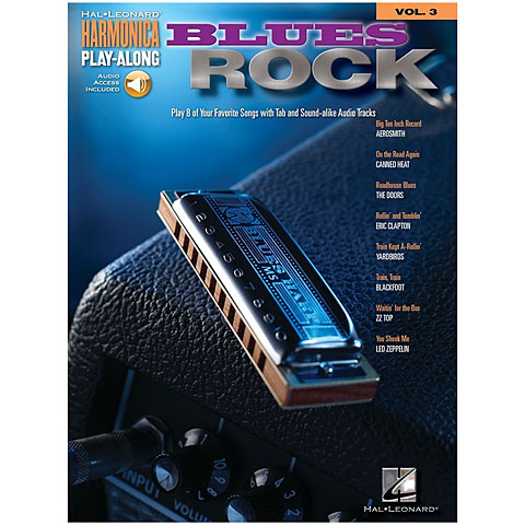 Hal Leonard Harmonica Play-Along Vol.3 - Blues Rock