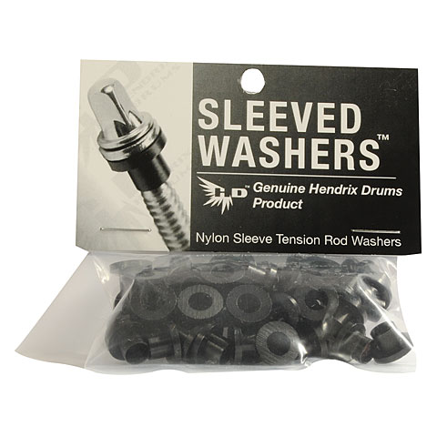 Hendrix Drums Sleeved Washers Black 50 Pcs.
