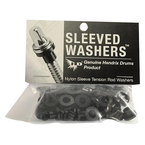 Pièce de rechange Hendrix Drums Sleeved Washers Black 50 Pcs.