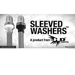 Hendrix Drums Sleeved Washers Black 100 Pcs.