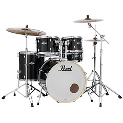 "Pearl Export 20"" Jet Black Complete Drumset « Batterie acoustique"