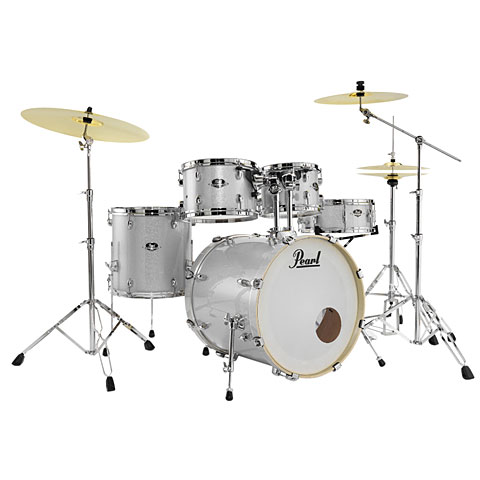 Pearl Export 20  Artic Sparkle Complete Drumset