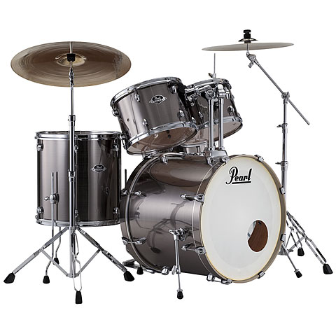 "Pearl Export 20"" Smokey Chrome Complete Drumset"