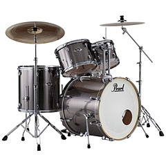 "Pearl Export 22"" Smokey Chrome Complete Drumset"