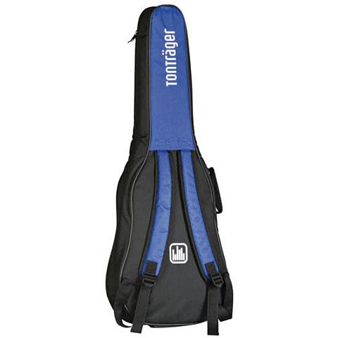 Tasche für 4//4 Konzertgitarre blau-schwarz 10 mm Polsterung