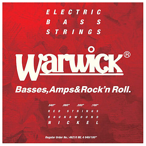 Cuerdas bajo eléctrico Warwick RedLabel 040-100 Nickelplated Steel