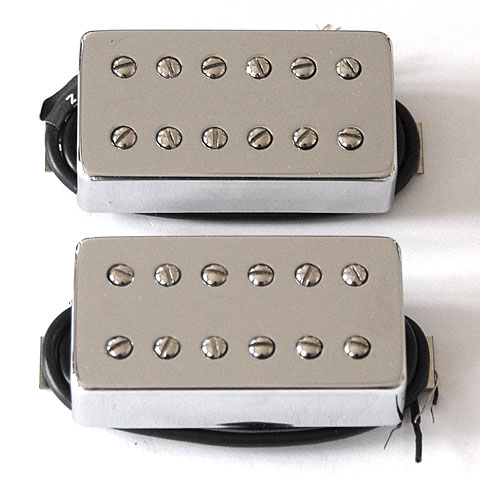 Pastillas guitarra eléctr. Bare Knuckle Aftermath Covered Set Chrome Cover