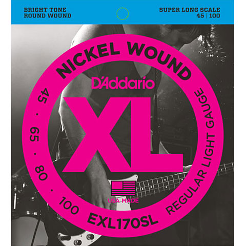 D'Addario EXL170-SL Nickel Wound .045-100