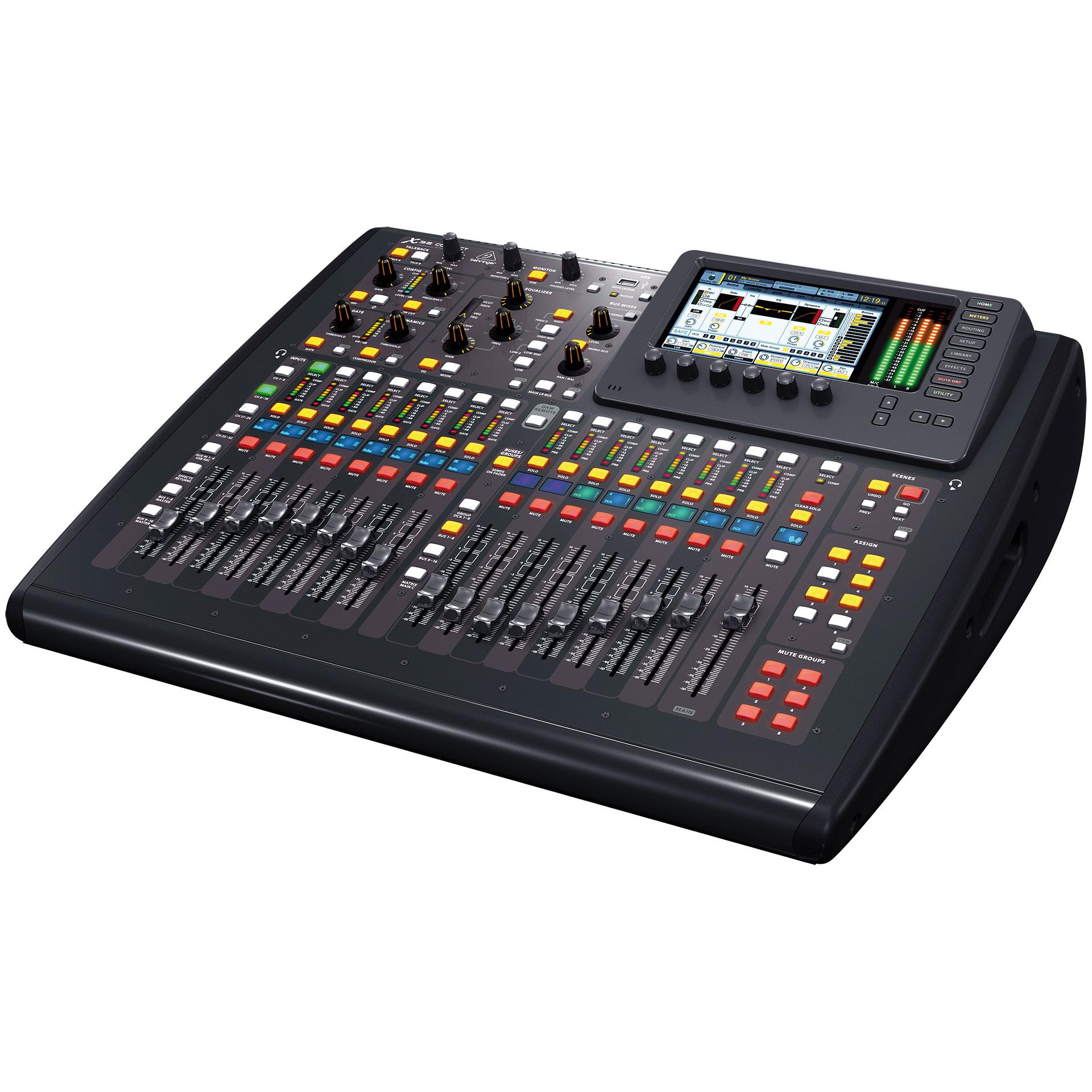 Behringer x32 compact console de mixage num rique - Console numerique behringer ...