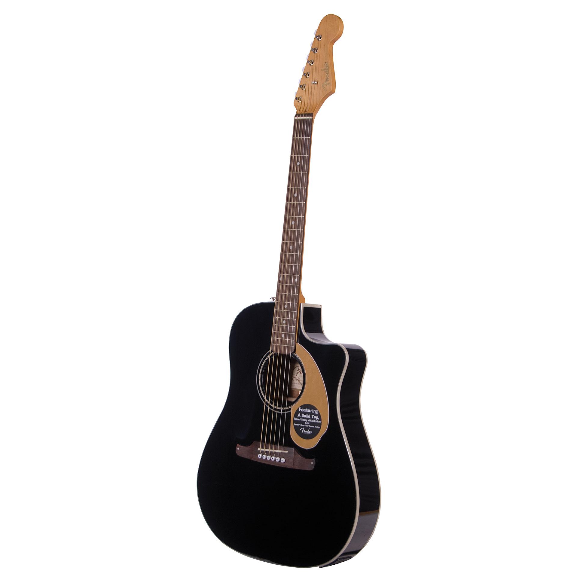 fender sonoran sce thinline blk acoustic guitar. Black Bedroom Furniture Sets. Home Design Ideas