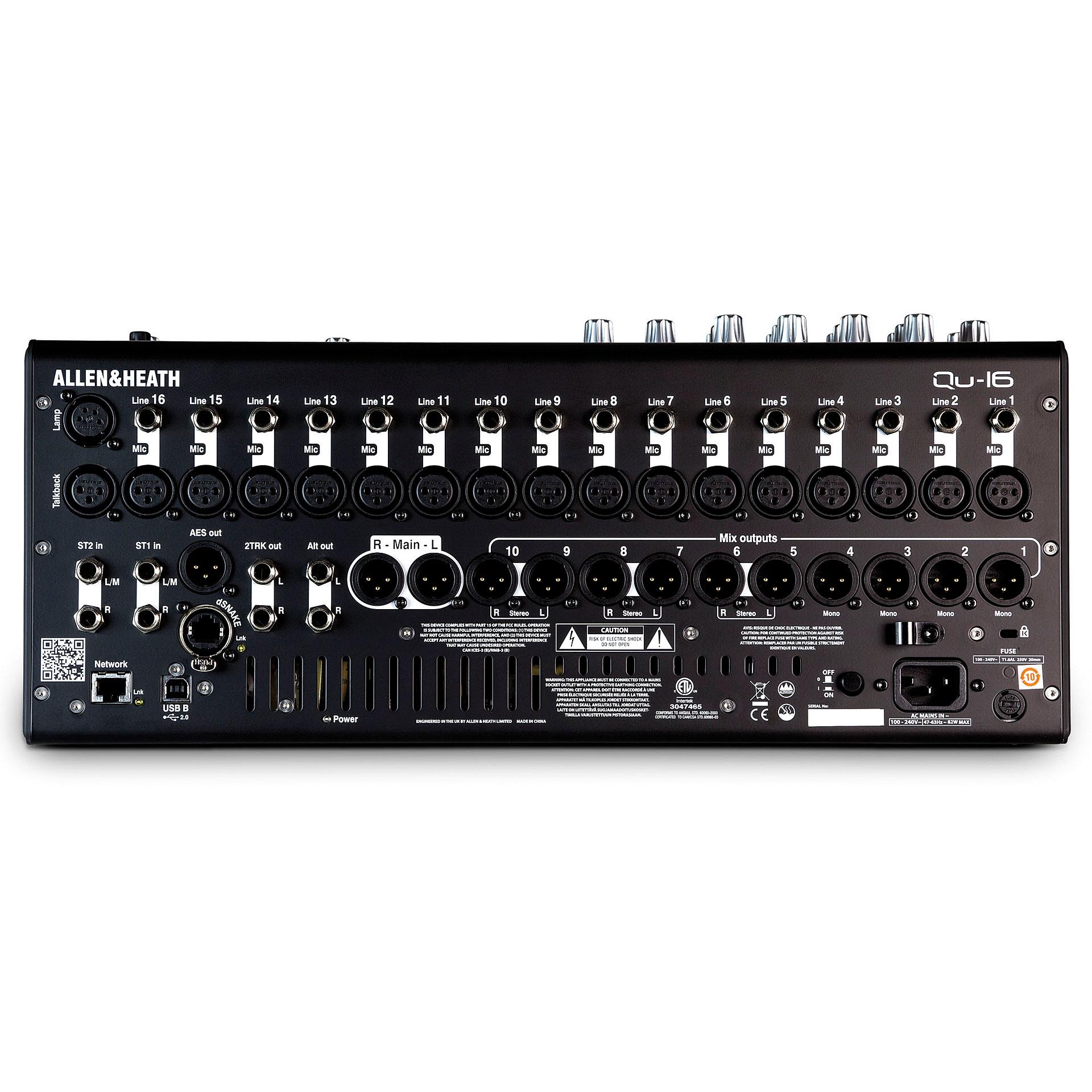 Allen heath qu 16c console de mixage num rique - Console de mixage numerique ...