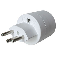 AudioTeknik Plug Adapter EU (Type F) / CH (Type J) « Power Plug