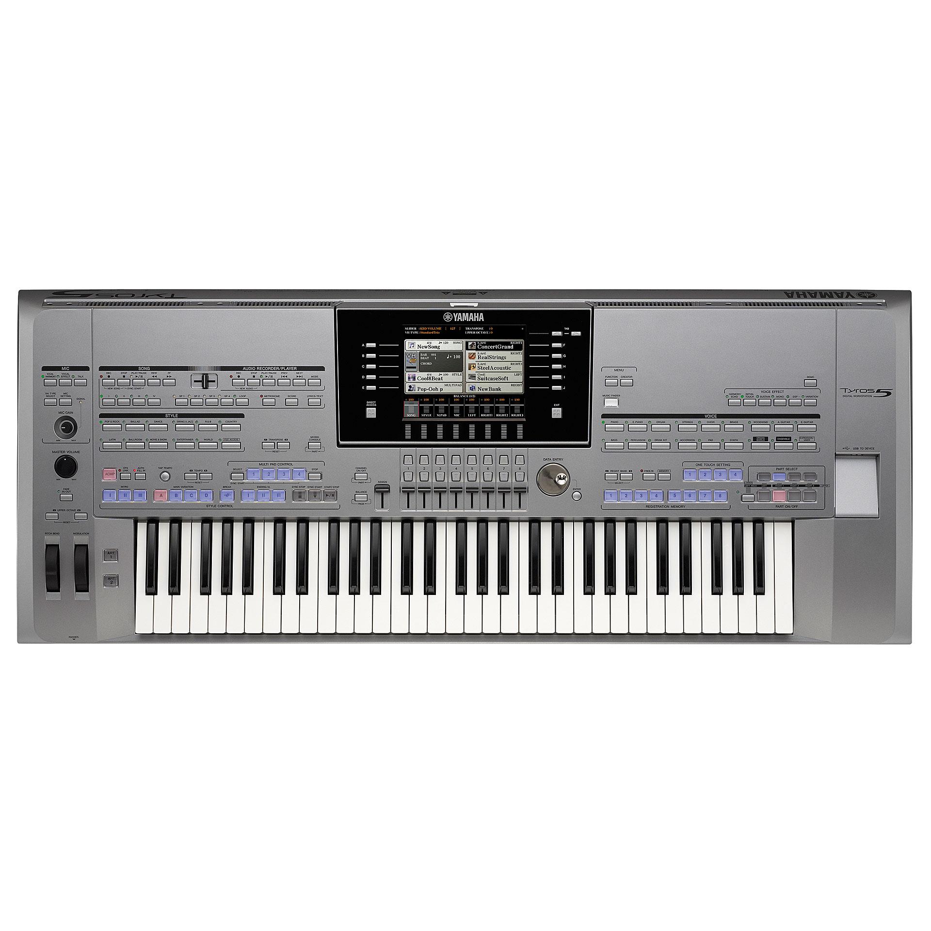 yamaha tyros 5 61 keyboard. Black Bedroom Furniture Sets. Home Design Ideas