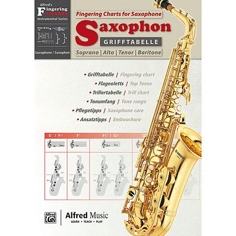 Alfred KDM Grifftabelle Saxophon