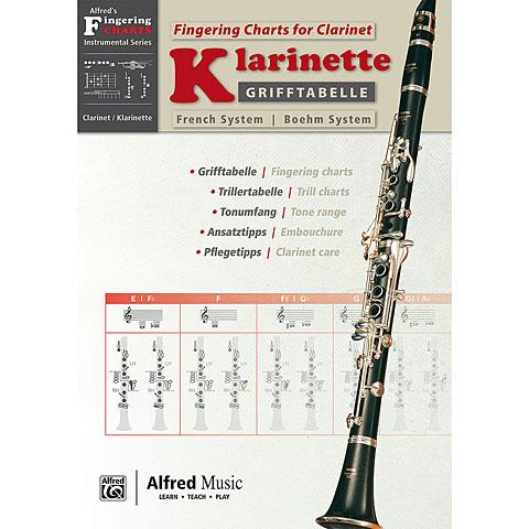Instructional Book Alfred KDM Grifftabelle Klarinette Böhm