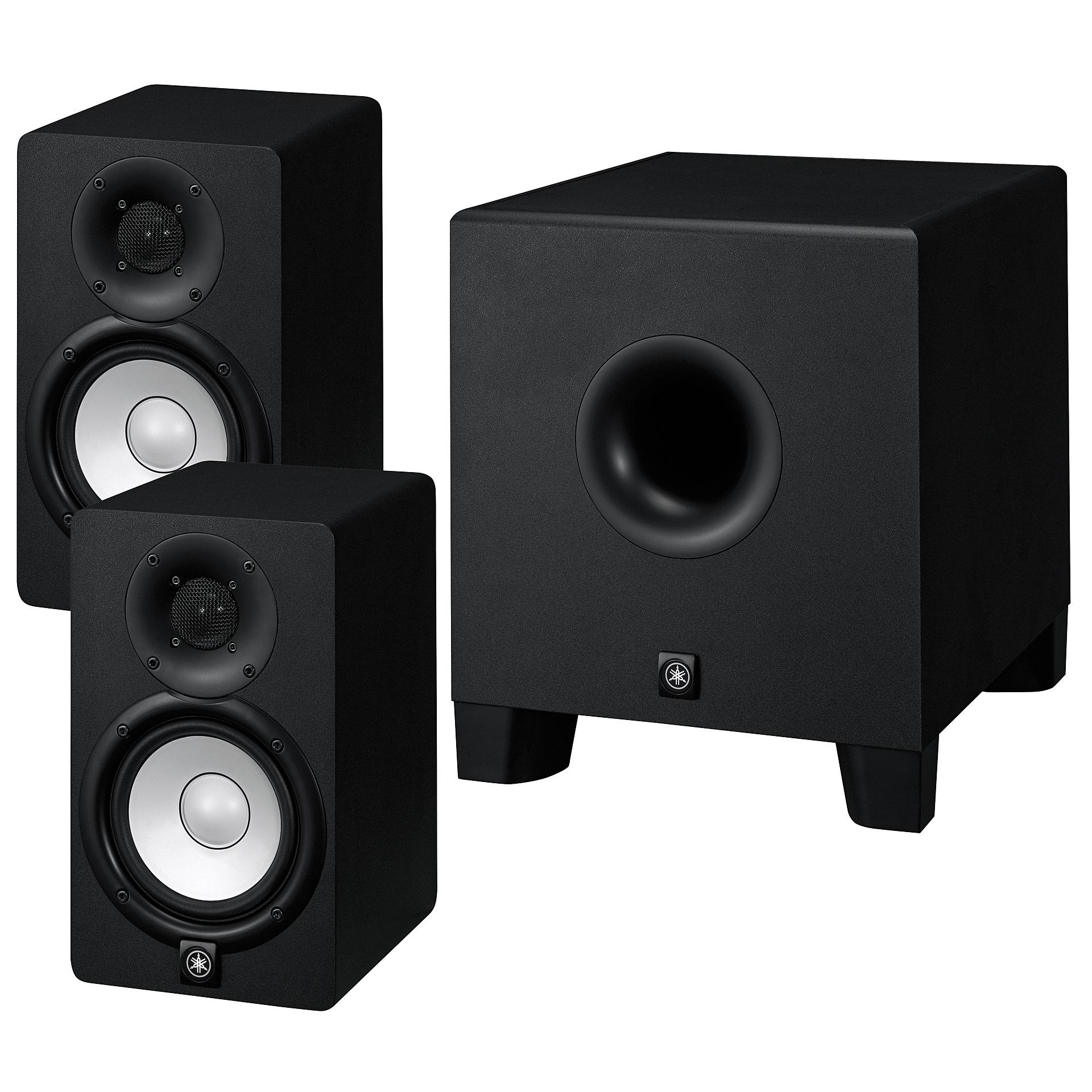 yamaha hs5 subwooferbundle aktiv monitor. Black Bedroom Furniture Sets. Home Design Ideas