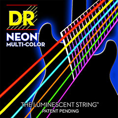 DR NEON Hi-Def MULTI-COLOR Medium « Corde guitare électrique