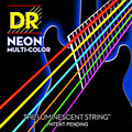 Set di corde per chitarra elettrica DR NEON Hi-Def MULTI-COLOR Medium