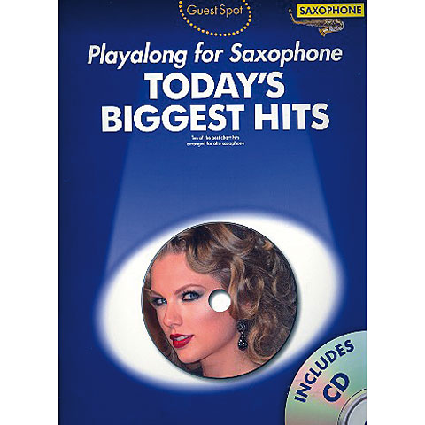 Music Sales Today's Biggest Hits - Playalong for Saxophone