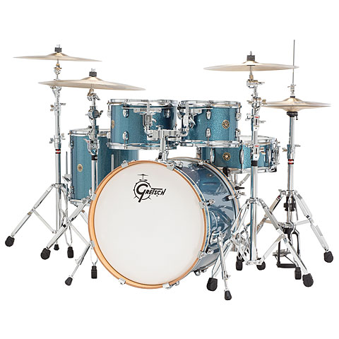 "Gretsch Drums Catalina Maple 22"" Aqua Sparkle Shellset"