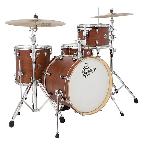 "Drumstel Gretsch Drums Catalina Club 18"" Satin Walnut Glaze Drumset"