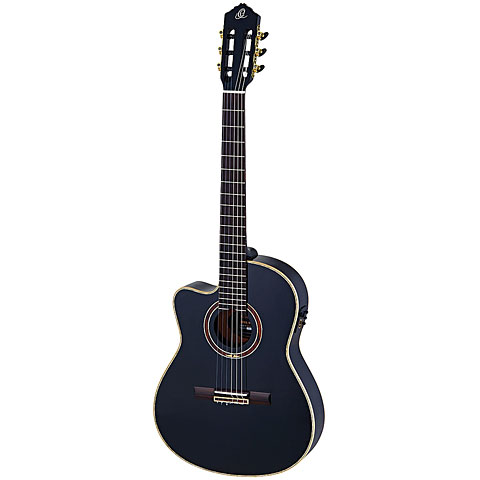 Guitare classique gaucher Ortega RCE 138 T4BK L