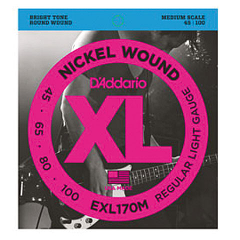 D'Addario EXL170M Nickel Wound .045-100