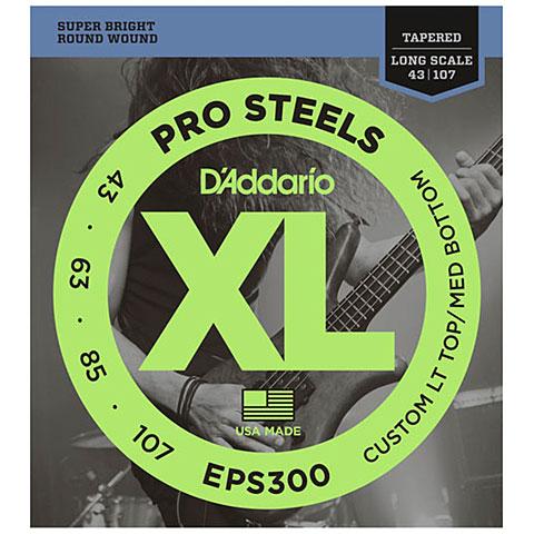 Cuerdas bajo eléctrico D'Addario EPS300 Pro Steels .043-107