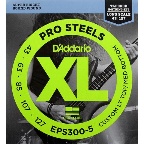 Corde basse électrique D'Addario EPS300-5 Pro Steels .043-127