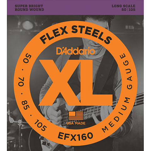 D'Addario EFX160 Flex Steels .050-105