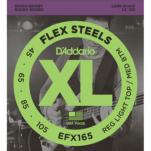 D'Addario EFX165 Flex Steels .045-105
