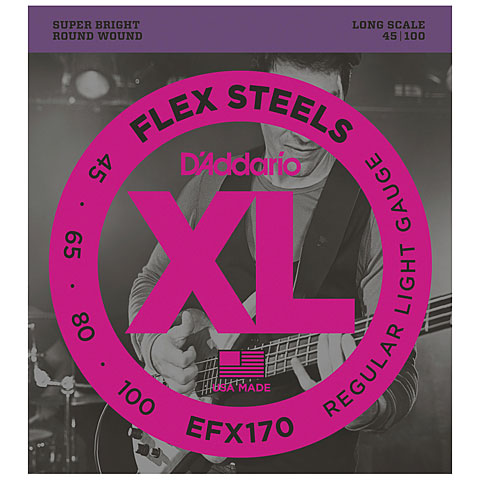 D'Addario EFX170 Flex Steels .045-100