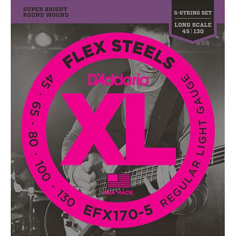 D'Addario EFX170-5 Flex Steels .045-130