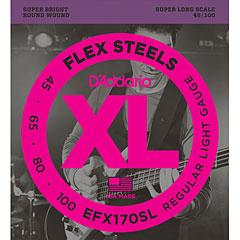 D'Addario EFX170SL Flex Steels .045-100 « Set di corde per basso elettrico