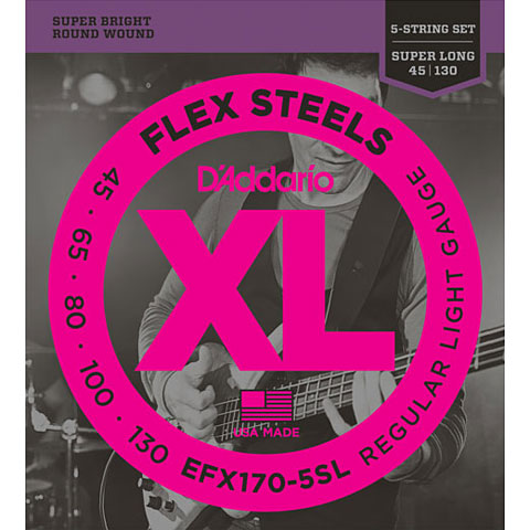 D'Addario EFX170-5SL Flex Steels .045-130