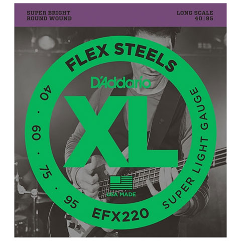 D'Addario EFX220 Flex Steels .040-95