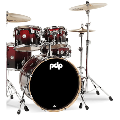 "pdp Concept Maple CM5 20"" Red to Black Sparkle Fade"