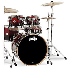 "pdp Concept Maple CM5 20"" Red to Black Sparkle Fade « Batterie acoustique"