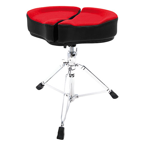 Sillín de batería AHead Spinal Glide Red Saddle Drum Throne