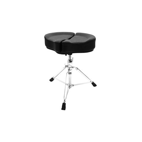 Sillín de batería AHead Spinal Glide Black Saddel Drum Throne