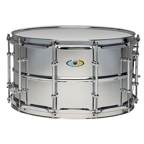 "Ludwig Supralite Beaded Steel 14"" x 8"" Snare Drum"